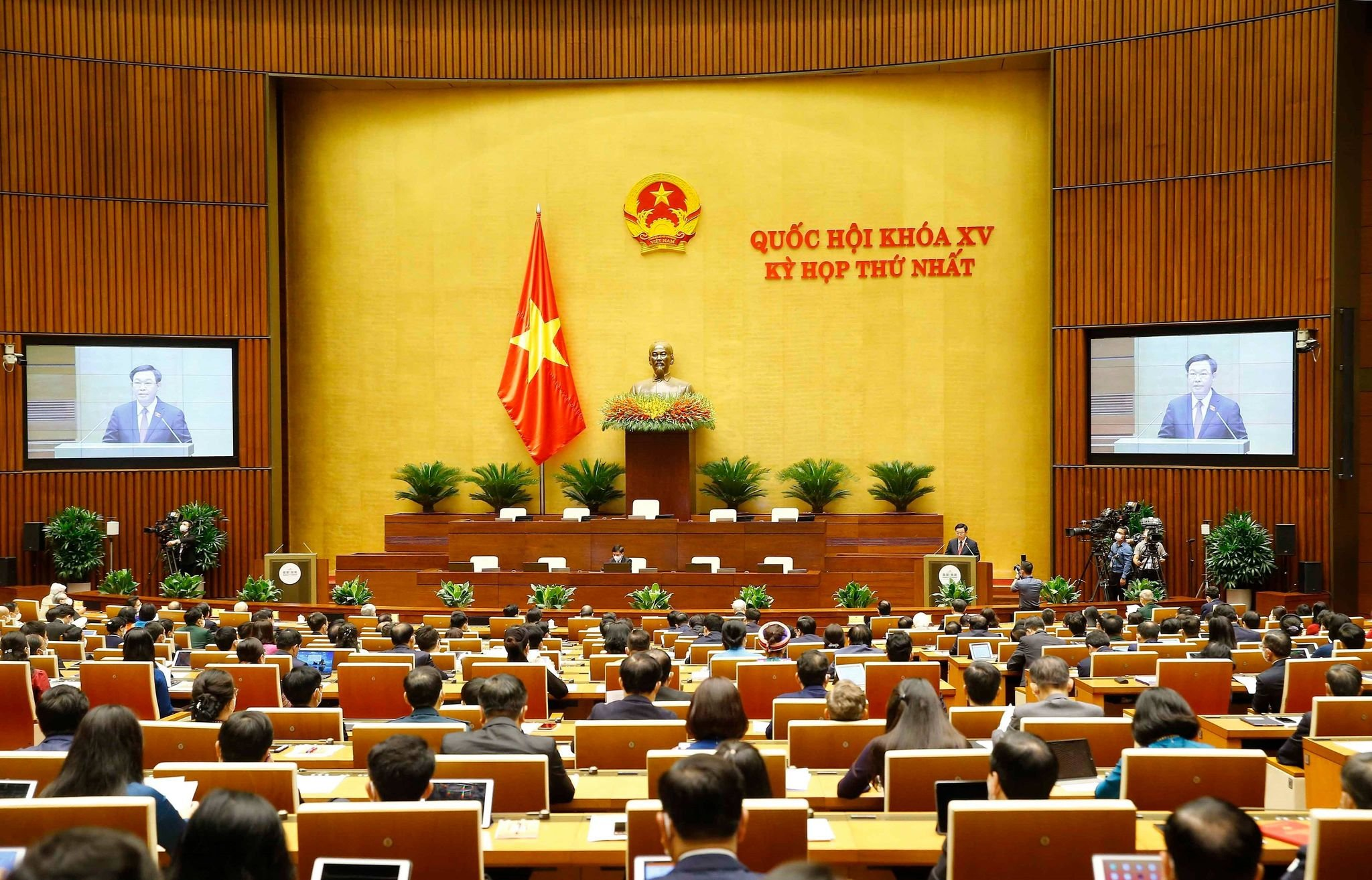 Toàn cảnh kỳ họp Quốc hội khóa XV 20.7 tại kỳ họp thứ Nhất quốc hội khóa XV.