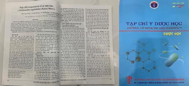 Nghiên cứu về hoạt chất Terpenoid trong rễ củ cây Sâm Báo của các nhà khoa học đã được đăng tải trên Tạp chí Y Dược Học Việt Nam số 17 tháng 3/2021.