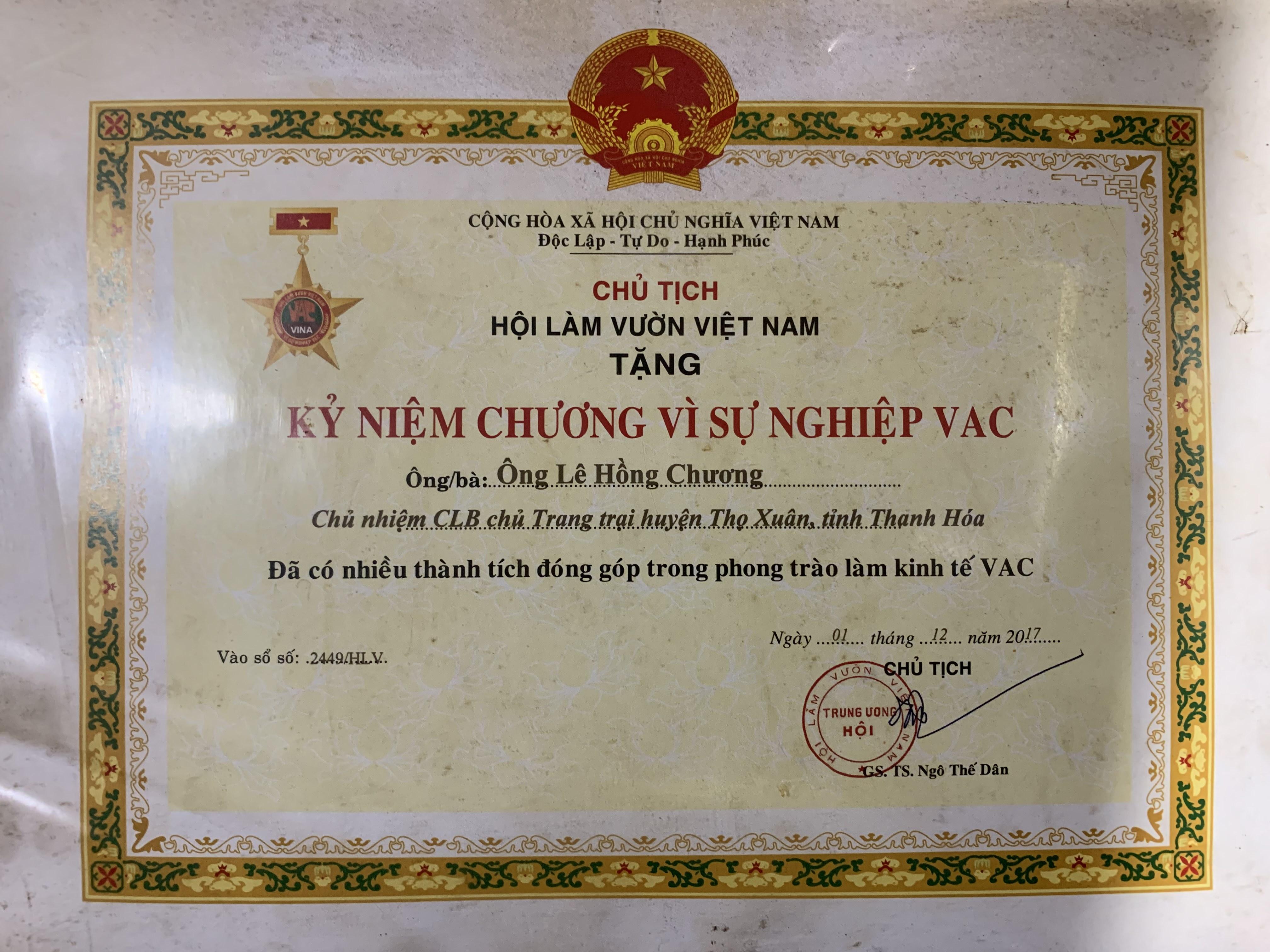 Kỷ niệm chương vì sự nghiệp VAC