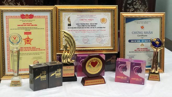 Các giải thưởng và chứng nhận về thành quả nghiên cứu mà thương binh, lương y Trần Đình Nhâm được trao tặng.