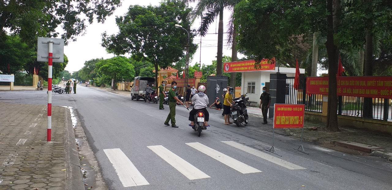 Một chốt xử phạt tại Hà Nội. Ảnh: Sở TT&TT