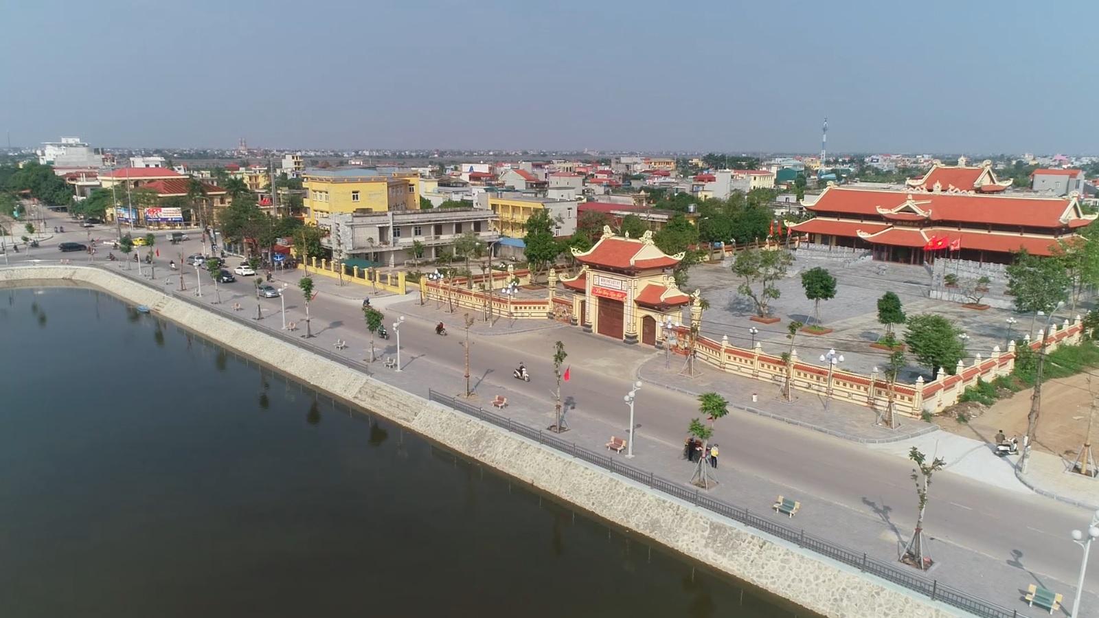 Ảnh 1. Khu vực Trung tâm huyện được cải tạo nâng cấp năm 2018