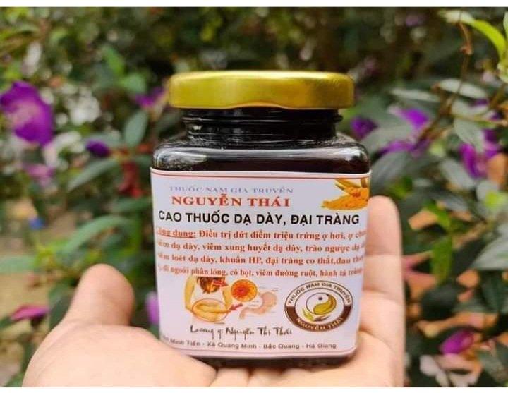 Một trong những sản phẩm bà Thái không được phép sản xuất và tiêu thụ cao thuốc dạ dày.