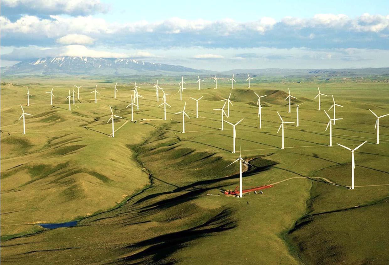 mô hình dự án Nhà máy Điện gió Phát triển Miền núi