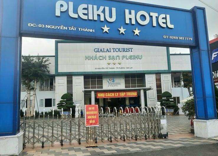 Khách sạn Pleiku - một trong những khu cách ly tập trung tại Gia Lai. Ảnh: Minh Vỹ.