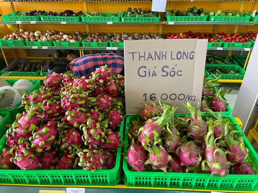 Tới nay, các siêu thị Bách Hóa Xanh trên địa bàn Thành phố Hồ Chí Minh đang tiêu thụ thanh long Long An với giá chỉ 16.000 đồng/kg. Còn tại Aeon Việt Nam và MM Mega Market cũng đồng hành tiêu thụ thanh long từ tháng 7/2021.