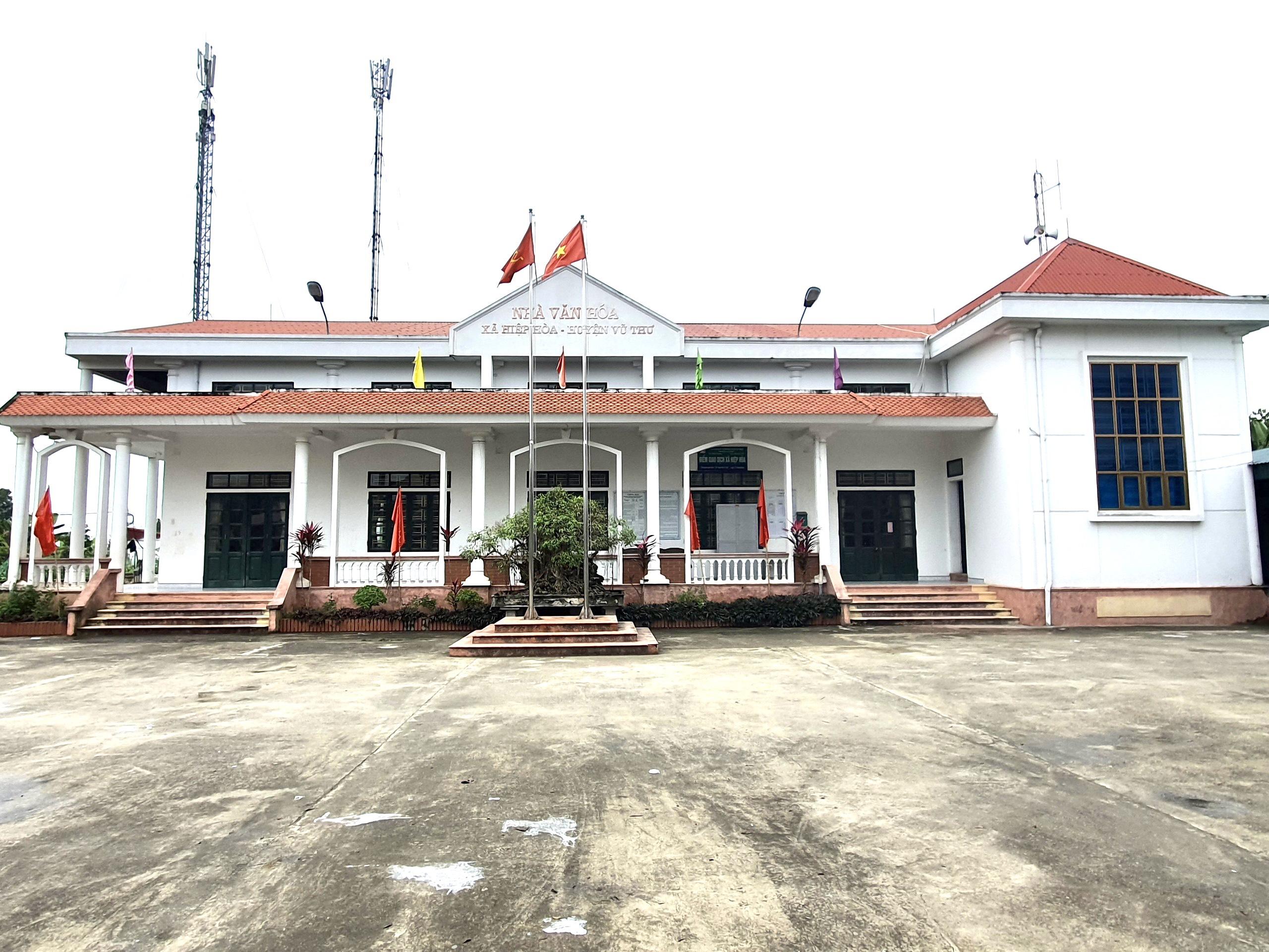 Nhà văn hóa xã Hiệp Hòa, huyện Vũ Thư, tỉnh Thái Bình.