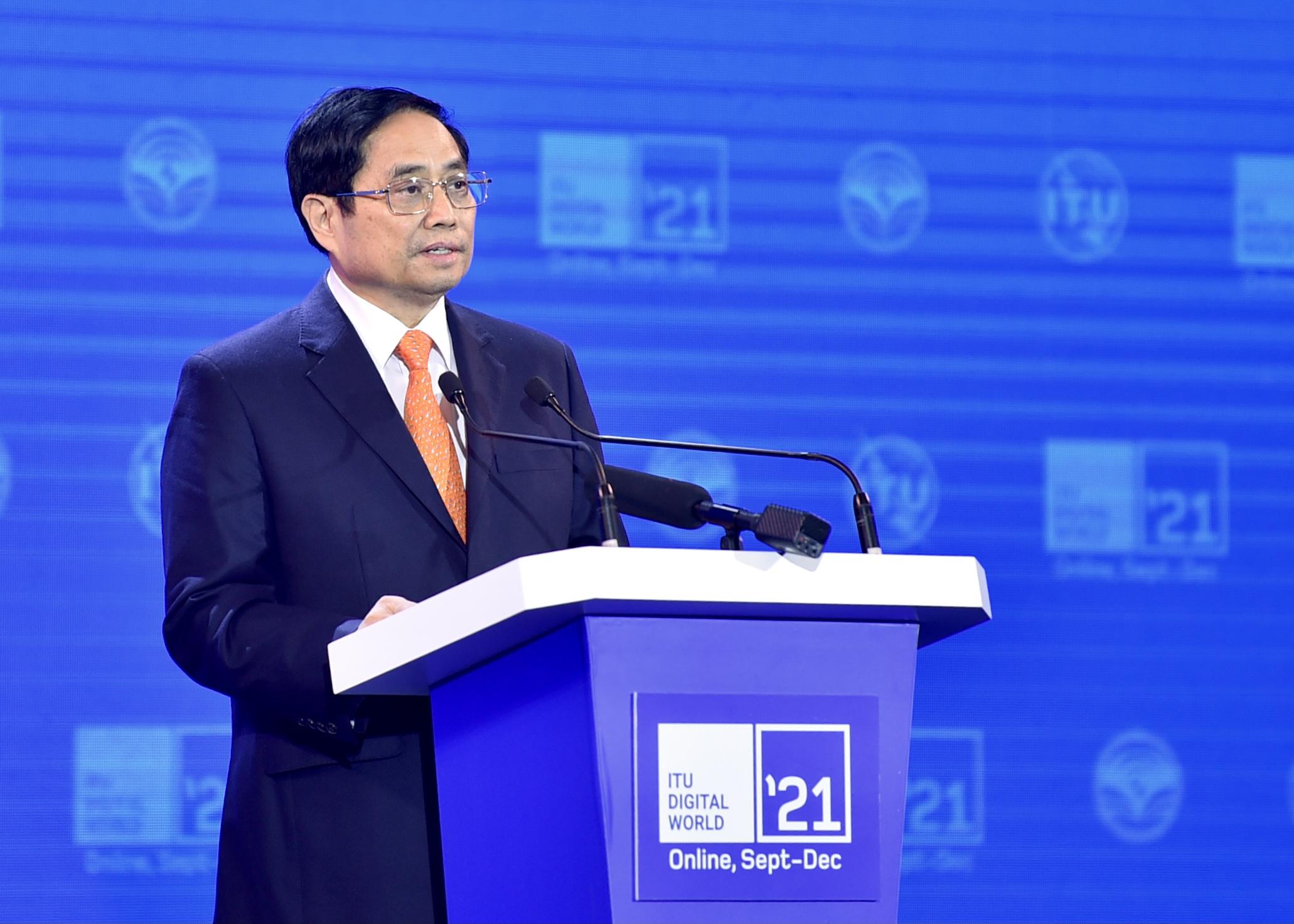 Thủ tướng Chính phủ Phạm Minh Chính:Chính phủ luôn tin tưởng lực lượng doanh nghiệp công nghệ số Việt Nam sẽ đóng vai trò quan trọng đối với việc triển khai thành công tiến trình này; để kinh tế số Việt Nam phấn đấu chiếm hơn 20% tỉ trọng GDP quốc gia vào năm 2025 và phấn đấu đạt 30% vào năm 2030.