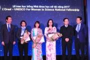 """Trao giải """"L'Oreal – UNESCO Vì sự phát triển phụ nữ trong khoa học"""" năm 2017"""