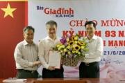 Bổ nhiệm nhà báo Trần Tuấn Linh giữ chức vụ Tổng Biên tập Báo Gia đình và Xã hội