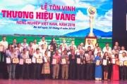 """Tôn vinh 85 """"Thương hiệu vàng nông nghiệp Việt Nam"""" năm 2018"""