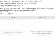 Một loạt báo điện tử tại Việt Nam gặp sự cố truy cập