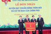 Kim Bảng (Hà Nam): Đón nhận bằng công nhận Huyện đạt chuẩn nông thôn mới và cờ thi đua của Chính phủ
