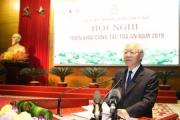 Tổng Bí thư, Chủ tịch nước Nguyễn Phú Trọng dự Hội nghị triển khai công tác tòa án năm 2019