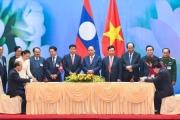 6 văn kiện hợp tác giữa Việt Nam và Lào được ký kết