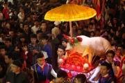 """Những điều chưa biết về lễ hội rước """"Ông lợn"""" nặng 300kg ở La Phù"""