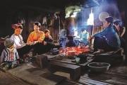 Phong tục giữ lửa của người Thái trong dịp Tết