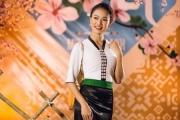 Người đẹp truyền thông Phùng Ngọc Bảo Vân thích thú khám phá Tết Mường Thanh
