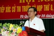 Phó Thủ tướng Vương Đình Huệ tiếp xúc cử tri trước kỳ họp Quốc hội thứ 8