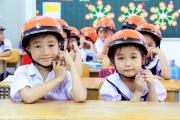 Đến năm 2020: Trên 80% trẻ em được đội mũ bảo hiểm đạt chuẩn