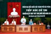 Thủ tướng Chính phủ tiếp xúc cử tri Hải Phòng