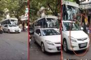 Trung úy Công an Hà Nội đỗ xe sai quy định tại phố Tạ Hiện bị phạt 1 triệu đồng