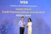MB là ngân hàng dẫn đầu tốc độ tăng trưởng doanh số chi tiêu thẻ tín dụng