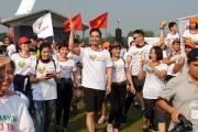 Các nghệ sĩ và 1500 VĐV tham dự sự kiện chạy vì trái tim 2019