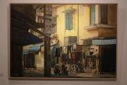 Triển lãm Xuống phố 3 trưng bày 17 bức tranh sơn dầu về phố cổ Hà Nội