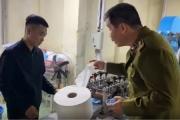 Phát hiện cơ sở sản xuất khẩu trang y tế có lõi kháng khuẩn từ giấy vệ sinh