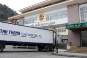 Thông quan hàng hóa xuất nhập khẩu trở lại qua cửa khẩu Tân Thanh