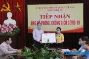 Nghệ An : Tập đoàn TH tặng 100.000 ly sữa tươi ủng hộ phòng, chống dịch COVID-19