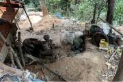 Công an Quảng Bình triệt xóa địa điểm khai thác quặng vàng trái phép
