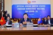 Các Bộ trưởng Ngoại giao ASEAN, Hoa Kỳ họp trực tuyến về hợp tác ứng phó COVID-19