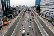 Đường vành đai 2 trên cao nghìn tỉ ở Hà Nội trước ngày thông xe