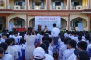 Đăk Lăk : Công an huyện M'Drắk đẩy mạnh công tác tuyên truyền Luật an toàn giao thông trong trường học