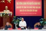 Thủ tướng chủ trì họp bàn giải pháp khắc phục hậu quả bão số 9
