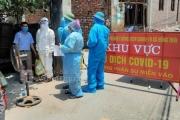 Giãn cách xã hội đối với xóm chùa, thôn Đức Liễu, xã Hồng Thái, huyện Việt Yên