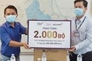 BAC A BANK trao tặng 2.000 bộ xét nghiệm nhanh Covid-19 góp chống dịch