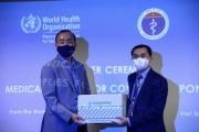 WHO bàn giao lô hàng vật tư y tế trị giá hơn 413.000 USD cho Bộ Y tế