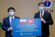 Đại sứ Ba Lan bàn giao cho Bộ Y tế hơn 500.000 liều vaccine AstraZeneca