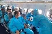 Những hình ảnh xúc động đón công dân Bắc Giang trở về được ghi lại trên chuyến bay của hãng hàng không BamBoo AirWays