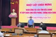 Gặp mặt Đoàn cán bộ y tế tỉnh Bắc Giang đến hỗ trợ Hà Nội phòng, chống dịch