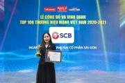 """SCB được vinh danh """"Thương hiệu mạnh Việt Nam"""" 6 năm liên tiếp"""