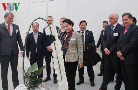 Chủ tịch Quốc hội thăm Trung tâm Nông nghiệp công nghệ cao tại Hà Lan