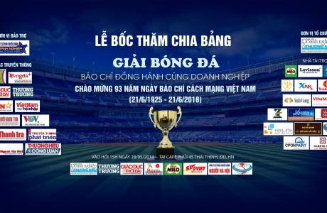 Giải Bóng đá Báo chí đồng hành cùng doanh nghiệp