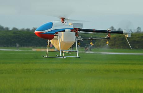 Cận cảnh máy bay không người lái phun thuốc trừ sâu cả cánh đồng