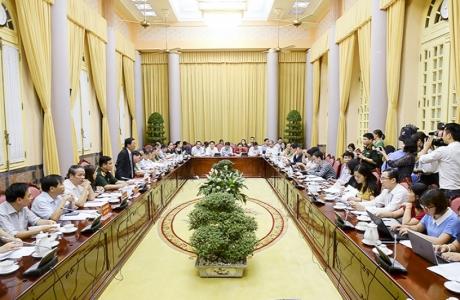 Văn phòng Chủ tịch nước tổ chức họp báo công bố 7 luật.