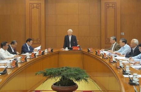 Tổng Bí thư, Chủ tịch nước Nguyễn Phú Trọng chủ trì cuộc họp phòng, chống tham nhũng