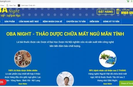 TPCN Oba Night: Ngang nhiên lừa dối NTD về công dụng?